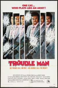 "Trouble Man (20th Century Fox, 1972). One Sheet (27"" X 41""). Blaxploitation"