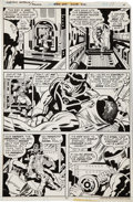Original Comic Art:Panel Pages, Jack Kirby and Mike Royer Captain America #214 page 17Original Art (DC, 1977)....