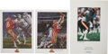 Football Collectibles:Balls, San Francisco 49ers Signed Lithographs and Prints Lot of 4 from the Estate of David Boss. ... (Total: 4 items)