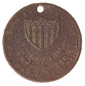 Military & Patriotic:Civil War, Excavated Brass Identification Disc with Battle Honors....
