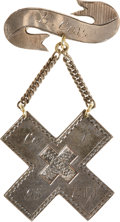 Military & Patriotic:Civil War, Attractive and Rare Jeweler-marked Sixth Corps Badge worn by a Gosline's Zouave....