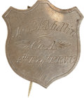 Military & Patriotic:Civil War, Historic Silver Identification Shield Belonging to a Member of the Pennsylvania Reserves....
