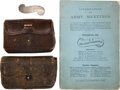 Military & Patriotic:Civil War, Splendid Grouping Highlighted by Inscribed Christian Commission Pin and Wallets.... (Total: 4 Items)