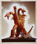 Original Comic Art:Miscellaneous, King Ghidorah Airbrushed Production Photograph for theAurora Model Kit Box (c. 1970s)....