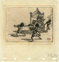 Animation Art:Production Drawing, Dumbo Storyboard Drawing Animation Art (Walt Disney,1941)....