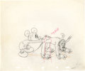 Animation Art:Production Drawing, Society Dog Show Mickey Mouse and Pluto Production DrawingAnimation Art (Walt Disney, 1939)....