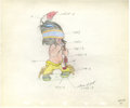 Animation Art:Production Drawing, Little Hiawatha Animation Production Drawing Original Art(Disney, 1953)....