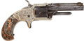 Military & Patriotic:Indian Wars, Factory-engraved Marlin XXX Standard 1872 .30 Caliber Rimfire Pocket Revolver with DeGress Tiffany Grips, Serial #3 Matchi...