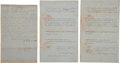 "Autographs:Military Figures, Benjamin Franklin Benton Two Court Documents Signed (One Signed Twice) ""B. F. Benton"" as clerk of the district court of ... (Total: 3 Items)"