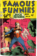 Golden Age (1938-1955):Miscellaneous, Famous Funnies #205-212 Bound Volume 13 (Eastern Color, 1953-54)....