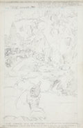 Original Comic Art:Splash Pages, Rich Buckler Unpublished Thor #229 Penciled Try-outCover/Splash Page Original Art (Marvel, 1974)....