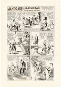 Original Comic Art:Comic Strip Art, Phil Davis Mandrake the Magician Sunday Comic Strip Original Art dated 4-18-37 (King Features Syndicate, 1937)....
