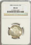 Coins of Hawaii: , 1883 25C Hawaii Quarter MS65 NGC. NGC Census: (124/84). PCGSPopulation (150/102). Mintage: 500,000. (#10987)...
