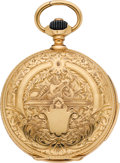 Timepieces:Pocket (pre 1900) , Perrenoud & Cie Ornate Gold Minute Repeater, circa 1890's. ...