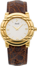"Timepieces:Wristwatch, Piaget ""Mechanique"" Gent's Gold Wristwatch, circa 1990's. ..."