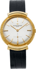 Timepieces:Wristwatch, Vacheron & Constantin Hooded Lug Vintage Gold Wristwatch, circa 1960. ...