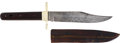 Military & Patriotic:Indian Wars, Fine Quality Bowie Knife Made Exclusively for the PrestigiousBritish Gun Maker Holland & Holland, Circa 1900.... (Total: 2Items)