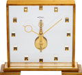 Timepieces:Clocks, LeCoultre Skeleton Desk Clock, circa 1960's. ...