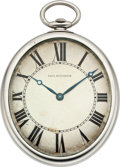 Timepieces:Pocket (post 1900), Paul Ditisheim Oval Platinum Pocket Watch, circa 1915. ...