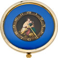 Timepieces:Other , Swiss Unique Quarter Hour Repeater With Portrait Dial, circa 1890. ...