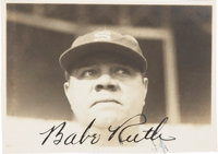 1934 Babe Ruth Signed Tour of Japan Snapshot Photograph