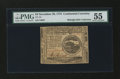 Colonial Notes:Continental Congress Issues, Continental Currency November 29, 1775 $4 PMG About Uncirculated55....