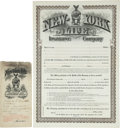 """Autographs:Celebrities, [Pat Garrett] Pat Garrett's Insurance Policy. Four pages, 12.5"""" x18.5"""", September 10, 1903, El Paso, Texas. Issued by the N..."""