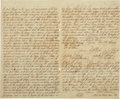 """[John Durst] Republic of Texas Land Transfer. Four pages, 7.5"""" x 12.5"""", May 24, 1843, Nacogdoches, Republic of..."""