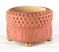 Furniture : French, A FRENCH GILT WOOD AND SILK UPHOLSTERED OTTOMAN. Circa 1925. 16 x24 inches (40.6 x 61.0 cm). ...