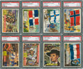 "Non-Sport Cards:Sets, 1956 Topps ""Flags of the World"" (46/80) & ""Round Up"" (40/80)Partial Set Pair. ..."