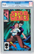 Modern Age (1980-Present):Science Fiction, Star Wars #103 (Marvel, 1986) CGC NM/MT 9.8 White pages....