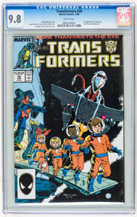 Transformers #36 (Marvel, 1988) CGC NM/MT 9.8 White pages