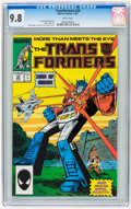 Modern Age (1980-Present):Science Fiction, Transformers #34 (Marvel, 1987) CGC NM/MT 9.8 White pages....
