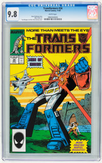 Transformers #34 (Marvel, 1987) CGC NM/MT 9.8 White pages