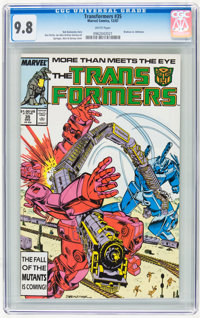 Transformers #35 (Marvel, 1987) CGC NM/MT 9.8 White pages