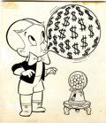Original Comic Art:Covers, Warren Kremer Richie Rich #6 Cover Original Art (Harvey,1961)....