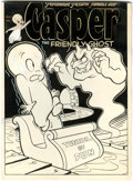 Original Comic Art:Covers, Casper the Friendly Ghost #20 Cover Original Art (Harvey, 1954)....