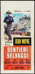 "Movie Posters:Western, The Searchers (Warner Brothers, R-1971). Italian Locandina (13"" X 27.5""). Western.. ..."