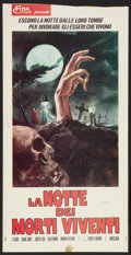 "Movie Posters:Horror, Night of the Living Dead (Fida Cinematografica, 1968). Italian Locandina (13"" X 26""). Horror.. ..."