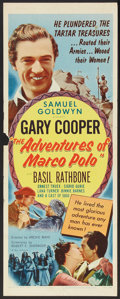 "Movie Posters:Adventure, The Adventures of Marco Polo (Samuel Goldwyn, R-1954). Insert (14""X 36""). Adventure.. ..."