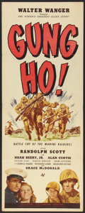 "Movie Posters:War, Gung Ho! (Universal, 1943). Insert (14"" X 36""). War.. ..."