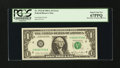 Error Notes:Miscellaneous Errors, Back Plate 129 Engraving Error Fr. 1912-H $1 1981A Federal Reserve Note. PCGS Superb Gem New 67PPQ.. ...