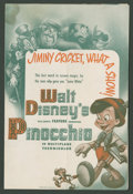 "Movie Posters:Animated, Pinocchio (RKO, 1940). Herald (9"" X 12"" Folded Out). Animated.. ..."