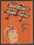 "Movie Posters:War, The Dawn Patrol (First National, 1930). Herald (6"" X 8.75"" Folded Out). War.. ..."