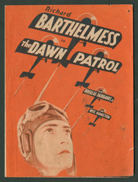 """The Dawn Patrol (First National, 1930). Herald (6"""" X 8.75"""" Folded Out). War"""