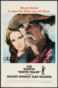 "Movie Posters:Western, Monte Walsh (National General, 1970). One Sheet (27"" X 41"").Western.. ..."