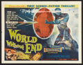 """World Without End (Allied Artists, 1956). Half Sheet (22"""" X 28"""") Style B. Science Fiction"""