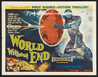 "World Without End (Allied Artists, 1956). Half Sheet (22"" X 28"") Style B. Science Fiction"