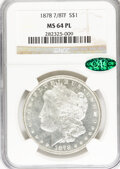 Morgan Dollars: , 1878 7/8TF $1 Strong MS64 Prooflike NGC. CAC. NGC Census: (56/8).PCGS Population (56/8). Numismedia Wsl. Price for proble...