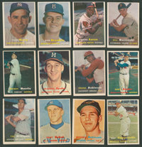 1957 Topps Baseball Near Set (393/407) Plus Checklists and Contest Cards